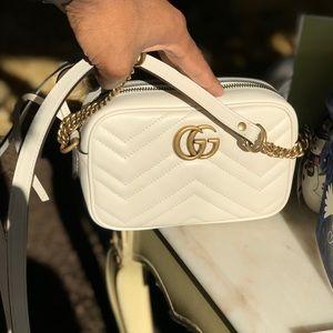 462b93e50116 Gucci Bags | Gg Marmont Mini Matelass Camera Bag White | Poshmark